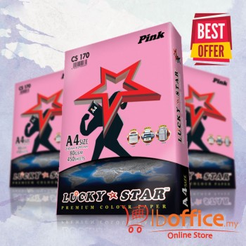 Lucky Star Light  Color Paper-A4 80gsm/CS170-Pink