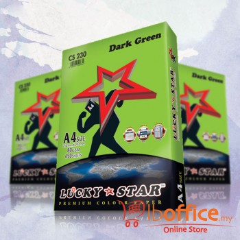 Lucky Star Dark Color Paper-A4 80gsm/CS230-DARK GREEN