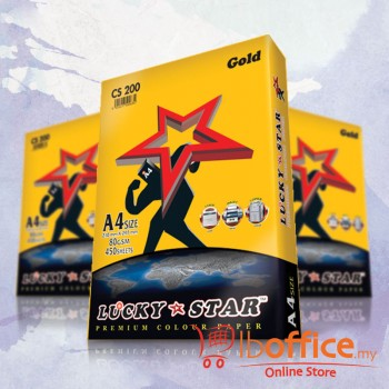 Lucky Star Dark Color Paper-A4 80gsm/CS200-GOLD