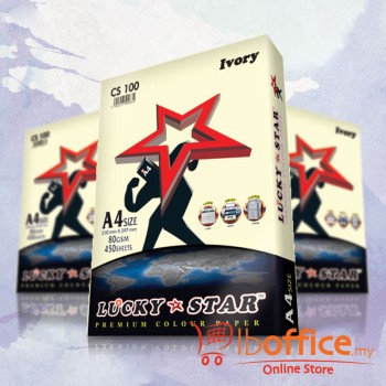Lucky Star Light Color Paper-A4 80gsm/CS100-IVORY