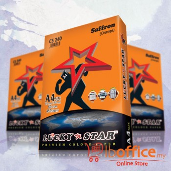 Lucky Star Dark Color Paper-A4 80gsm/CS240-SAFFRON