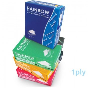 """Rainbow Computer Form-9.5"""" x 11"""" 1ply 1000fans"""