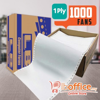 LB Computer Form - 9.5-inch x 11-inch 1ply - 1000fans