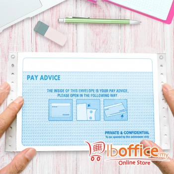 NCR Pre-Printed Pay Advice Slip - 3ply/2up - 500fans
