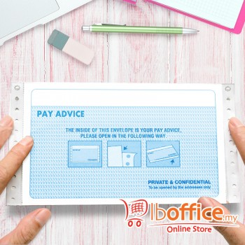NCR Pre-Printed Pay Advice Slip - 3ply/3up - 500fans