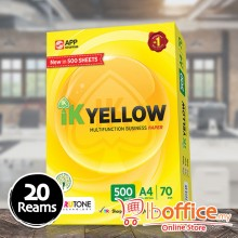 IK Yellow Paper - A4 70gsm - 500sheets - 20reams