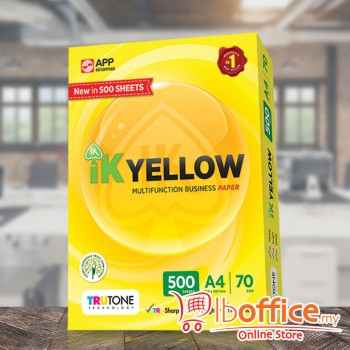 IK Yellow Paper - A4 70gsm - 500sheets - 1ream