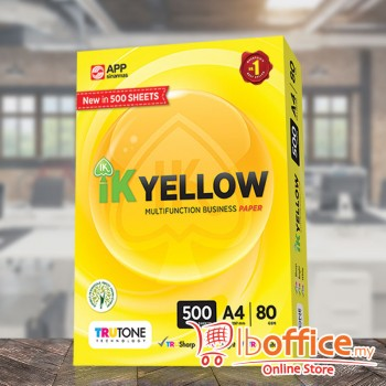 IK Yellow Paper - A4 80gsm - 500sheets - 1ream