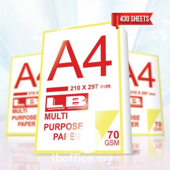 LB Multi Purpose Paper-A4 70gsm 430sheets