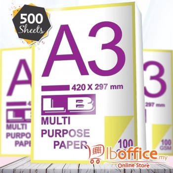 LB Multi Purpose Paper - A3 100gsm 500sheets