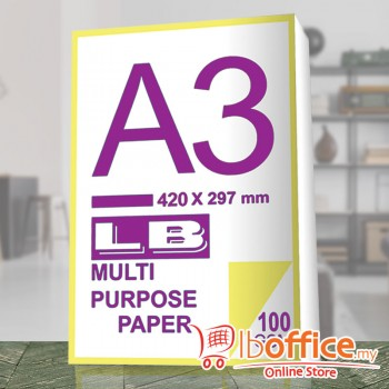 LB Multi Purpose Paper - A3 100gsm - 500sheets