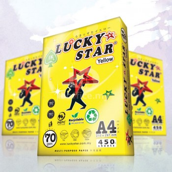Lucky Star Yellow Paper-A4 70gsm 450sheets