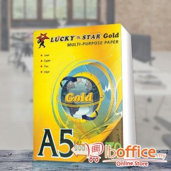 LuckyStar [Gold] Paper - A5 70gsm - 900sheets
