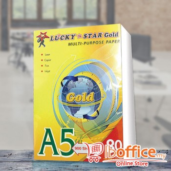 LuckyStar [Gold] Paper - A5 80gsm - 900sheets