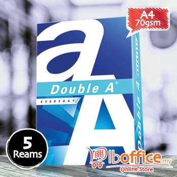 Double A Paper - A4 70gsm - 500sheets - 5reams