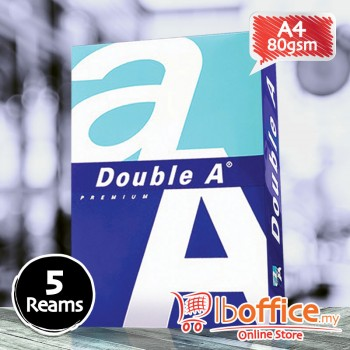Double A Paper - A4 80gsm - 500sheets - 5reams