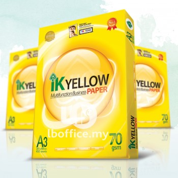 IK Yellow Paper 70gsm - A3 size - 1 ream - 450 sheets