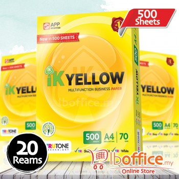 IK Yellow Paper 70gsm - A4 size - 20 ream - 500 sheets