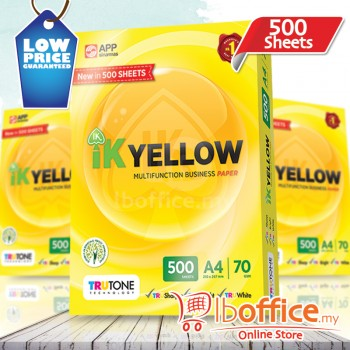 IK Yellow Paper 70gsm - A4 size - 1 ream - 500 sheets