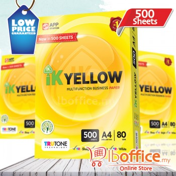 IK Yellow Paper 80gsm - A4 size - 1 ream - 500 sheets