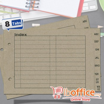 ABBA Paper Index - A~Z - A5 - Brown Paper