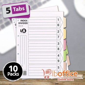 LB Color Divider - A4 - 5tabs - 10packs